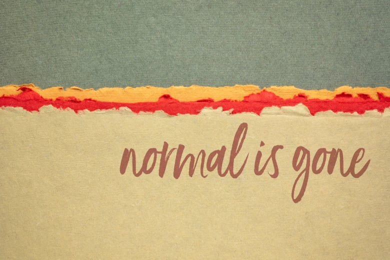 "Schriftzug ""normal is gone"""